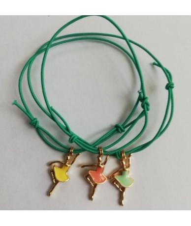 Ballerina bracelet with elastics braid by Anne L Or London