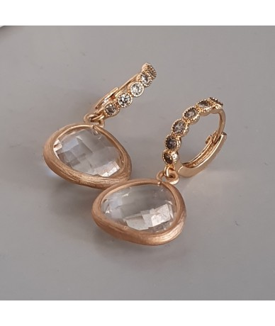 Boucles d oreilles fait main en cristal chic-casual
