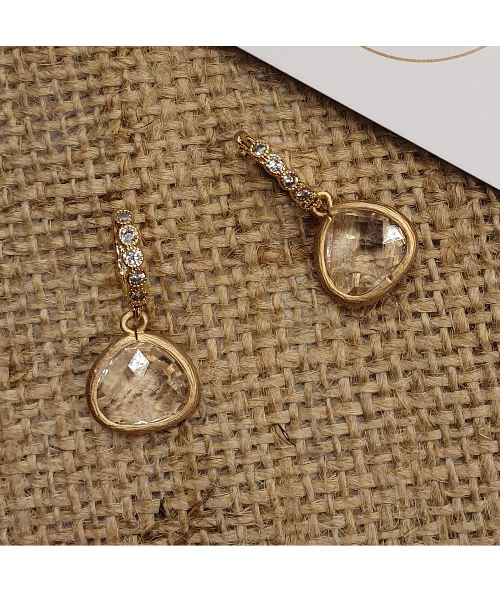 Cristal earrings by AnneLOr London to offer as birthday gift