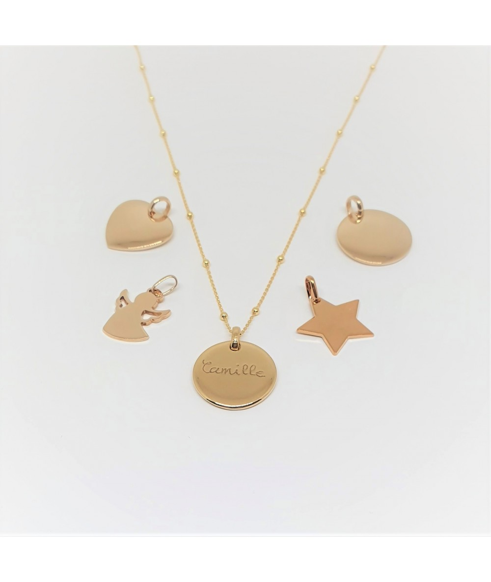 gold-plated chains and charms for personalised necklace by Anne L Or London