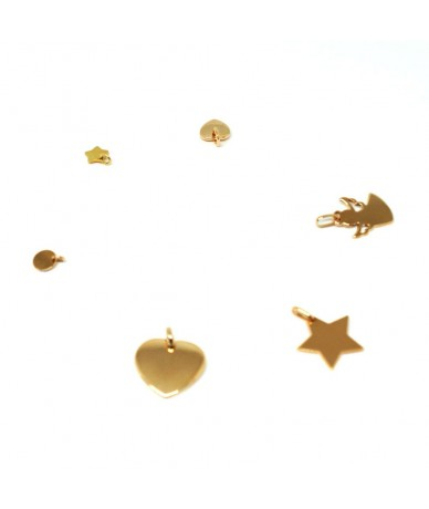 Gold plated charms  to be personalised and engraved by hand by Anne L Or London