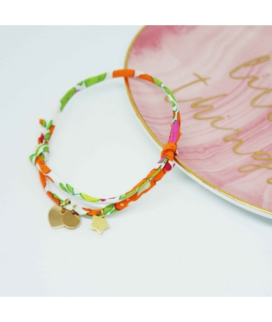 Mini charms and liberty braid for intitials personalised bracelet made by Anne L'Or London