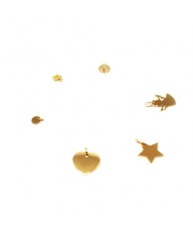 Gold plated charms to be personalised by Anne L'Or London