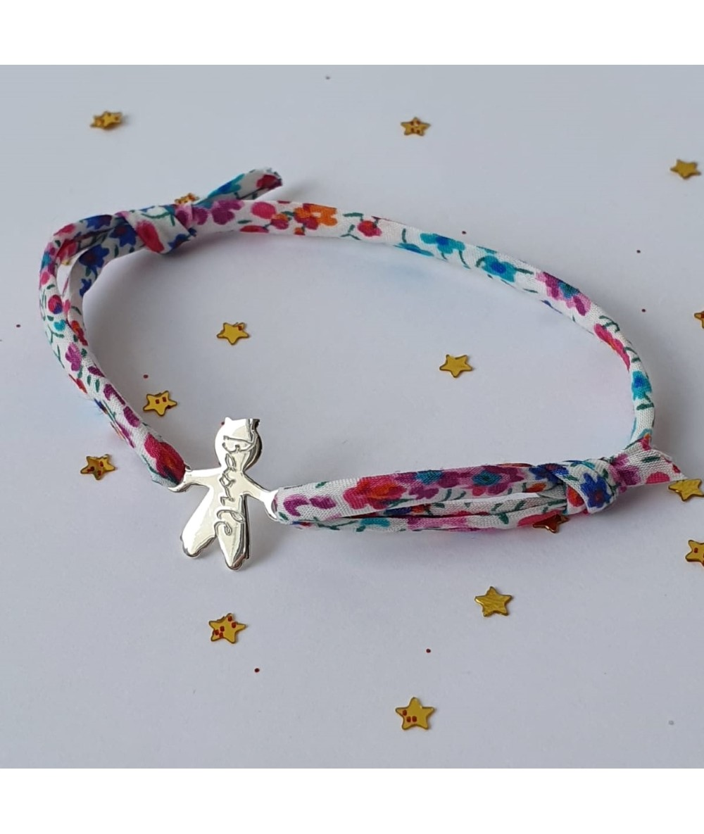 Little people liberty spring personalised bracelet handmade by Anne L Or London Wimbledon