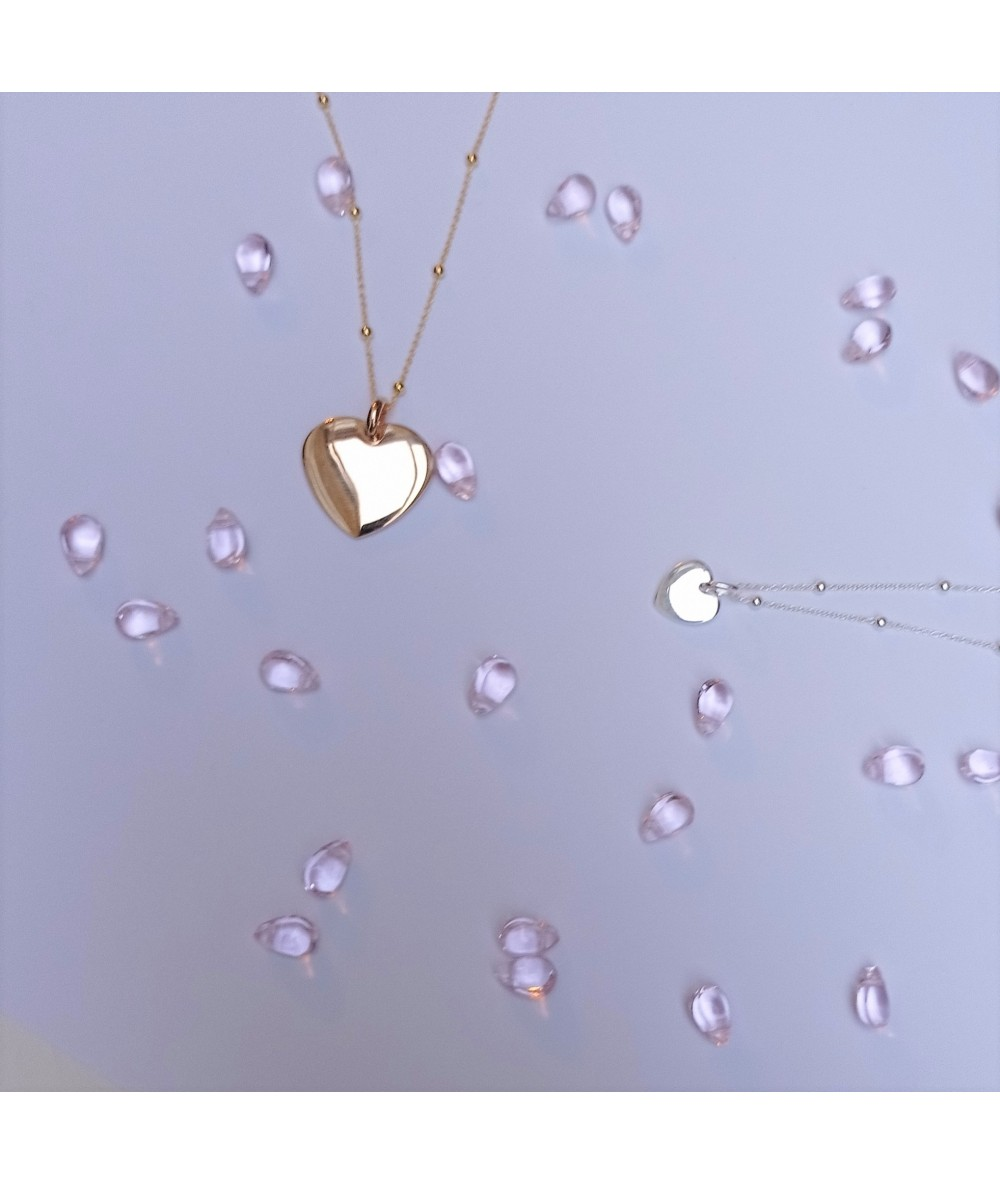 gold-plated chains and charms for Valentine's necklace by Anne L Or London