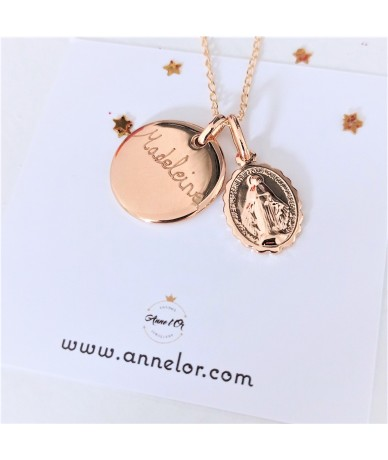 Virgin Mary Necklace handmade by Anne L'Or London