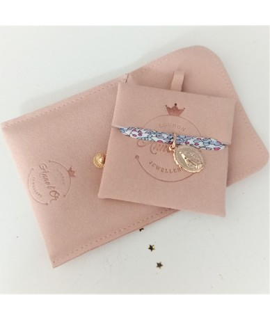Personalised braceletwith a goldplated charm packaging handmade jewellery by Anne L Or London in Wimbledon